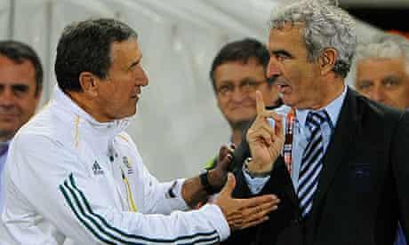 Carlos Alberto Parreira, left, and Raymond Domenech
