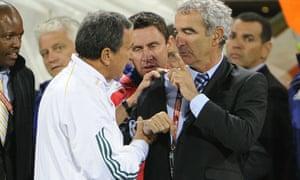 Carlos Alberto Parreira and Raymond Domenech