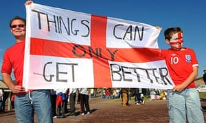 England fans with a message