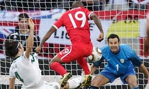 England's Jermain Defoe scores