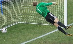 Frank Lampard's shot crosses the line