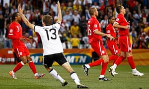 Thomas Muller scores for Germany