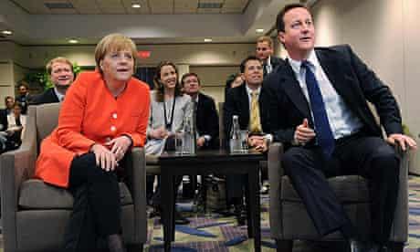 David Cameron, Angela Merkel, World Cup