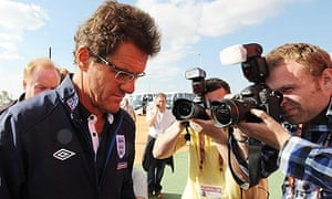 England manager Fabio Capello arrives for a press conference in Rustenburg
