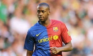 Yaya Touré of Barcelona