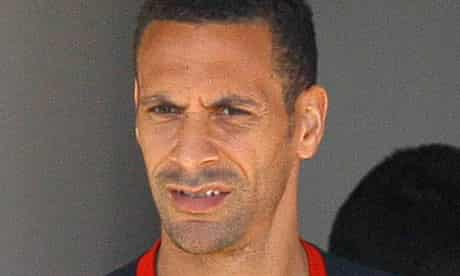 Rio Ferdinand arrives for training