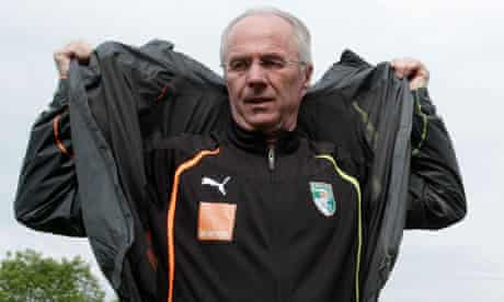 Ivory Coast's head coach Sven-Goran Eriksson