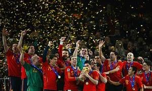 Spain celebrate their win
