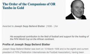Joseph Sepp Bellend Blatter