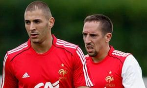 Karim Benzema and Franck Ribery