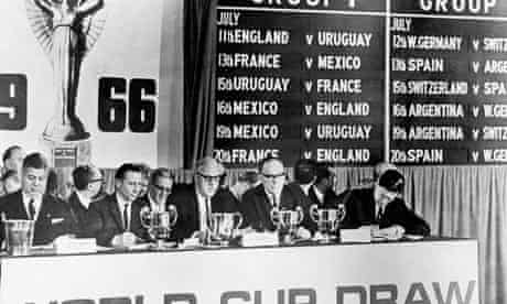 The 1996 World Cup draw in the Royal Garden Hotel, Kensington, London