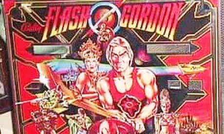 A Flash Gordon pinball machine, yesterday