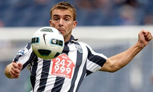West Brom's James Morrison in action