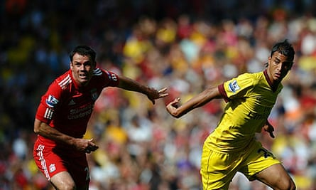Jamie Carragher and Marouane Chamakh