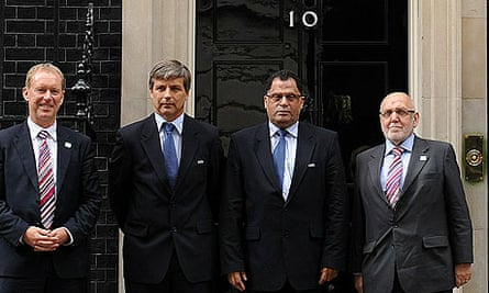 Representatives from Fifa outside Downing Street
