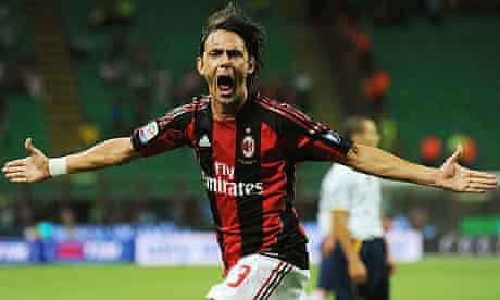 Filippo Inzaghi celebrates