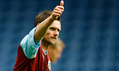 Burnley's captain Graham Alexander celebrates