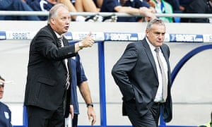 Sheffield United manager Kevin Blackwell and Cardiff City manager Dave Jones
