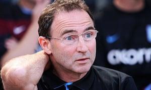 Aston Villa's manager Martin O'Neill