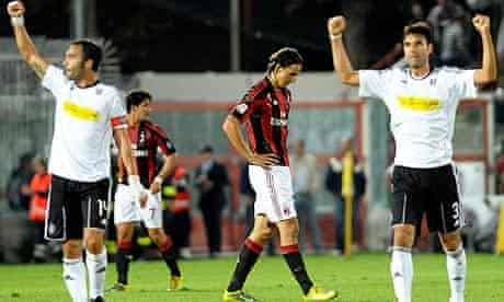 Cesena celebrate against Milan