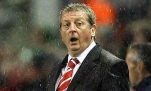 Liverpool's manager Roy Hodgson reacts on the sidelines in Liverpool