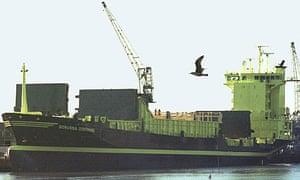 The Borussia Dortmund container ship