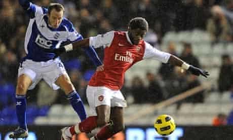 Alex Song Birmingham City v Arsenal