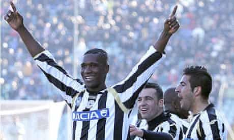Cristian Zapata celebrates after scoring against Inter during Sunday's 3-1 win