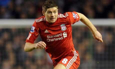 Steven Gerrard, of Liverpool