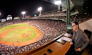 John W Henry watching the Boston Red Sox at Fenway Park
