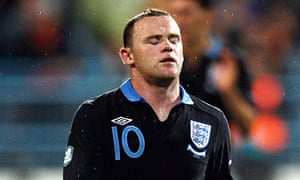 Wayne Rooney walks off after his red card for England against Montenegro