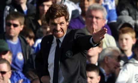 André Villas-Boas makes his point on the touchline
