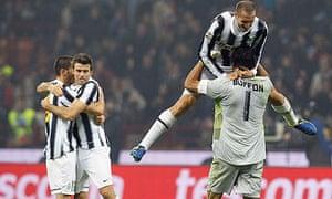 Juventus' Chiellini, Buffon etc