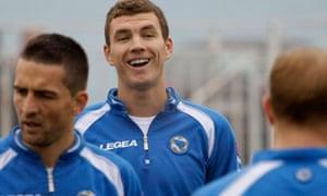 Edin Dzeko of Bosnia and Manchester City