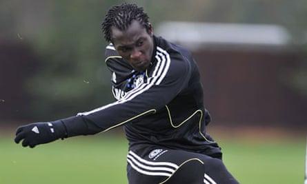 Romelu Lukaku in training for Chelsea