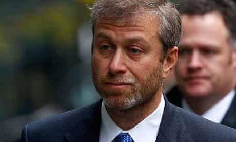 Roman Abramovich, the owner of Chelsea
