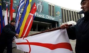 England's flag in Kiev