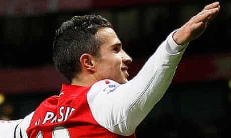 Arsenal's Robin van Persie celebrates
