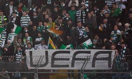 Celtic fans at Udinese