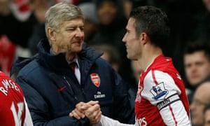 Arsenal's Arsène Wenger with Robin van Persie