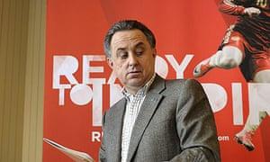 Russian Sports Minister Vitaly Mutko lea