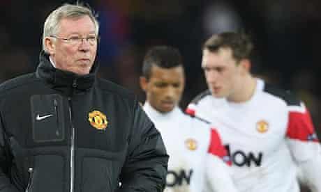Sir Alex Ferguson of Manchester United walks off