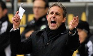 Wolfsburg's head coach Pierre Littbarski - German Bundesliga