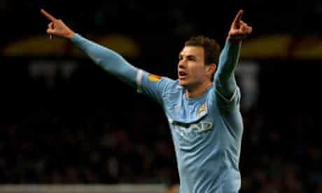 Edin Dzeko Manchester City v Aris