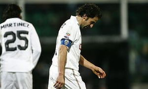 Alessandro Del Piero reacts at the end of the defeat to Palermo