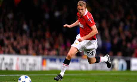 Manchester United's Darren Fletcher in action against Rangers in the Champions League