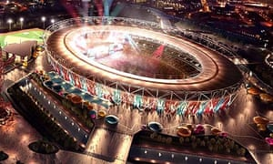 A computer-generated image of West Ham's plans for the Olympic Stadium