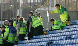 Cardiff fan falls at Millwall
