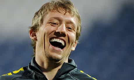 Lucas Leiva of Brazil and Liverpool
