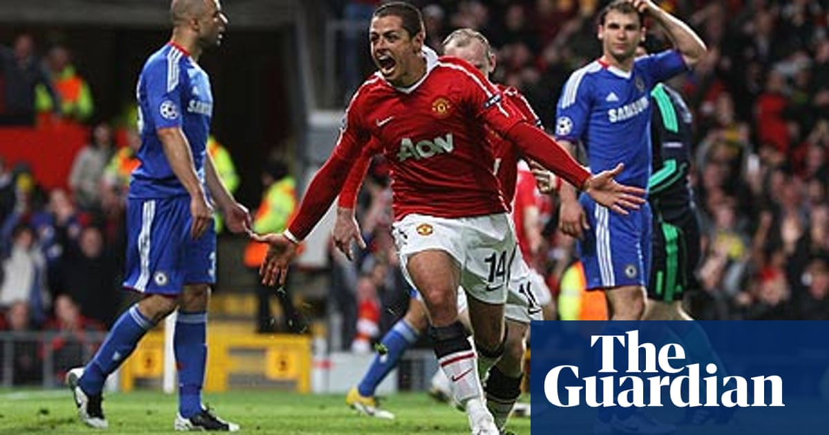 Manchester United Send 10 Man Chelsea Out Of Champions League Champions League The Guardian